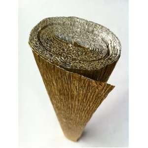 Italian Crepe Paper roll 180 gram   801 Metallised GOLD