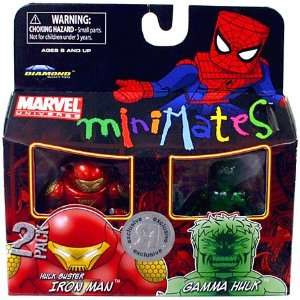 Mini Figure 2Pack Hulk Buster Iron Man Gamma Hulk Toys & Games