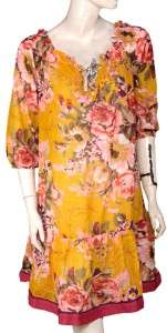 NEW Antica Sartoria Floral Printed Cotton Embellished Dress Free Size