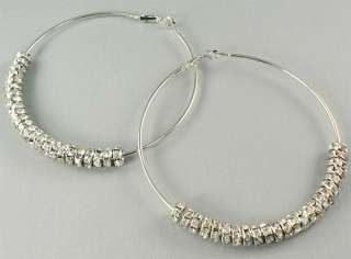 Crystal Hoops Earrings Basketball Wives POPARAZZI inspired