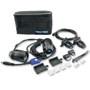 LED 35mm Double Light Helmet Kit without Battery   Black Automotive