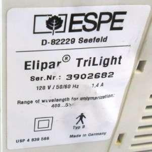 3M ESPE Elipar TriLight Dental Product Equipment Dentist Used