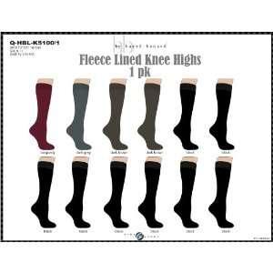 Fleece Lined Knee High Socks Assorted Colors 1 Pair