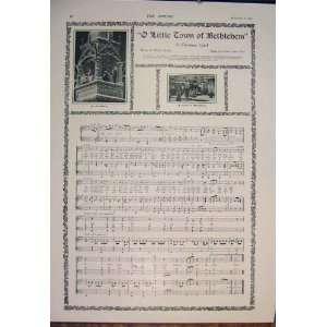 Music Score Sheet Little Town Of Bethlehem Carol:  Home