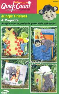 Jungle Friends, giraffe, elephant & monkey pc patterns
