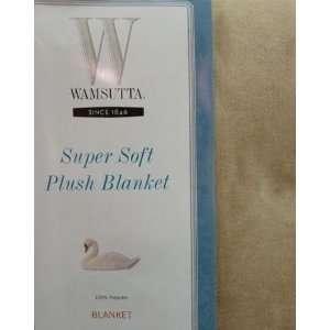 Wamsutta Full/Queen Super Soft Plush Blanket, Tan