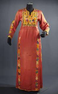 Vintage Embroidered Palestinian Dress ~ ethnic costume