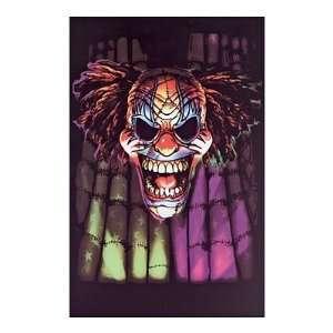 Evil Clown (Face) Blacklight Poster Print: Home & Kitchen