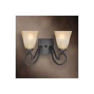 Woodbridge Palermo Bordeaux Two Bulb Wall Light