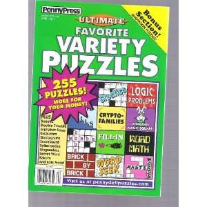 Penny Press Variety Puzzles (255 puzzles, april 2011