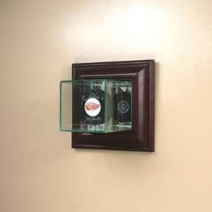 Hockey Puck Wall Mounted Single Puck Display Case Sports