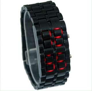 LED Digital Samurai Lava Wrist Watch Plastic Sports Style Mens Womens