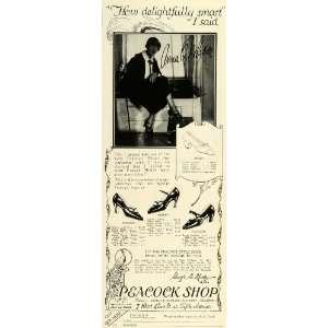 1924 Ad Peacock Shop Womens Footwear Shoe Fashion Film