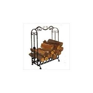 Pioche Large Wrought Iron Indoor Log Holder: Home