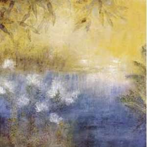 Jennifer Hollack: 36W by 36H : Golden Pond CANVAS Edge