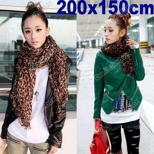 Fashion Leopard Print Shawl Scarf Wrap Stole