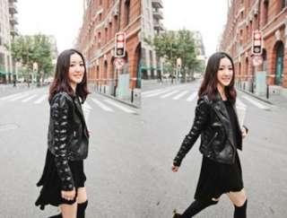 New Korean Fashion Chic Round Brought Big Hem Render Dress
