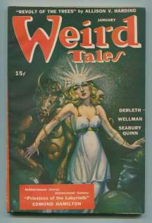 Weird Tales Pulp Magazine HIGH GRADE Horror Collection Run 42pc Lot