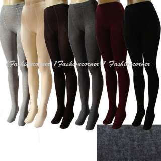 L39 Winter,Thick,Knit,Sweater Footed Tights S,M.Black,Gray,Brown,Cream