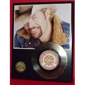 Gold Record Outlet Toby Keith 24kt Gold Record Display LTD