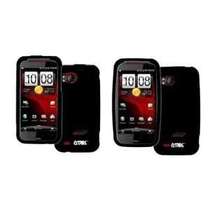 EMPIRE HTC Rezound Black Rubberized Hard Case Cover