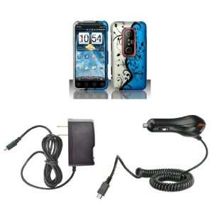 HTC EVO 3D (Sprint) Premium Combo Pack   Black Vines on