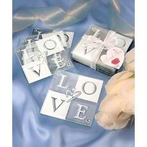 Glass LOVE Glass Coaster Set of 4 (20 Sets)