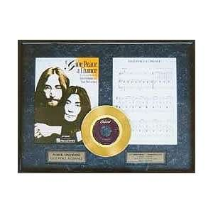 John Lennon Give Peace A Chance framed gold record