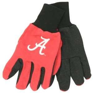 Alabama Crimson Tide Jersey 2 Tone Gloves (One Size Fits