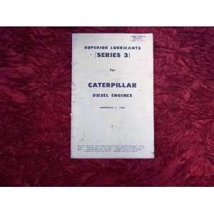 Series 3 Diesel Engine Lubricans Lising Caerpillar Series Books