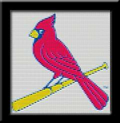 ST. LOUIS CARDINALS LOGO   Cross Stitch Patterns/Kits