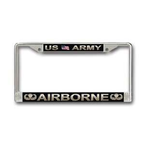 Army Airborne Parachutist License Plate Frame Everything