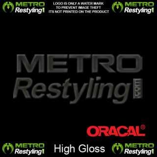 Oracal Premium High Gloss Black Vinyl Wrap 12x60
