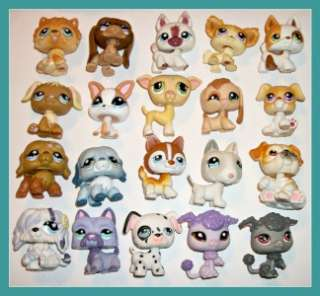 20 LPS PUPPY DOG LOT~Poodle~Dalmatian~Bull Terrier~Beagle~Littlest Pet