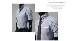 Bros mens Casual Shirts Shorts Sleeve Oxford Gray .19