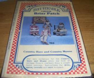 PRIMITIVE BRIAR PATCH COUNTRY HARE & MOUSE PATTERN