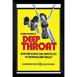 Deep Throat FRAMED 27x40 Movie Poster: Linda Lovelace: Home & Kitchen