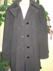 Jones New York womens winter Wool Angora blend long coat jacket plus