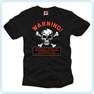 WITH BIKERS IS DANGEROUS FUNNY T SHIRT SKULL CROSS BONES DEATH