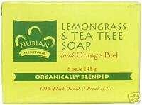 Nubian Heritage Lemongrass & Tea Tree Soap 5 Oz
