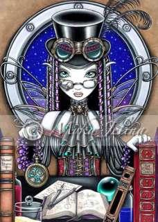 Steam Punk Goth Fairy OOAK ACEO Myka Jelina Victoria