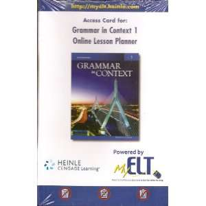 Grammar in Context 1, Fifth Edition Online Lesson Planner
