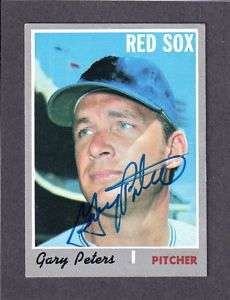 1970 TOPPS #540 Gary Peters RED SOX AUTOGRAPH AUTO COA
