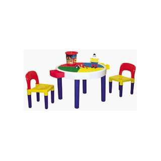 Round Table or Building Block Table with Chairs