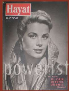 GRACE KELLY COVER TURKISH HAYAT MAGAZINE 1956