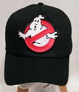 GHOSTBUSTERS No Ghost Logo Baseball Cap/Hat w Patch