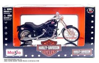 HARLEY 2002 FXSTB NIGHT TRAIN Maisto 118 Series #28