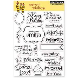 Penny Black Clear Stamps 5X7.5 Sheet Sweet Wishes Arts