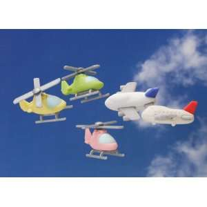 Japanese Puzzle Take Apart Erasers Airplane & Helicopter: Toys & Games