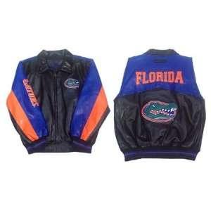 GIII Florida Gators Black/Royal/Orange Pleather Jacket